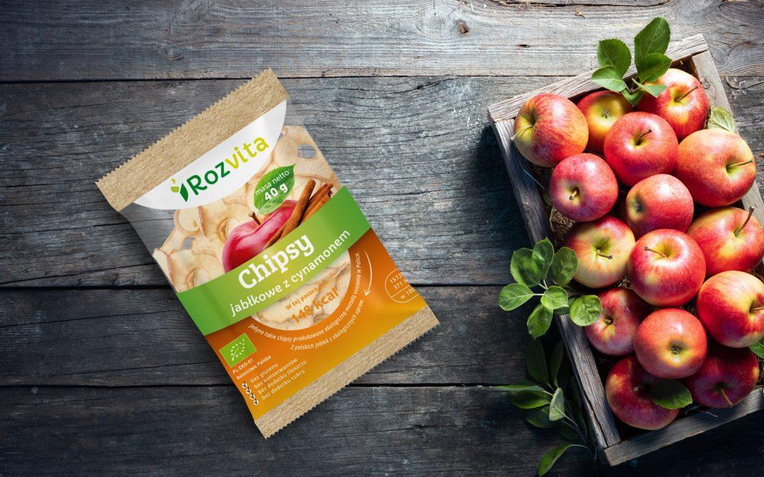 EKO chipsy jabłkowe z cynamonem